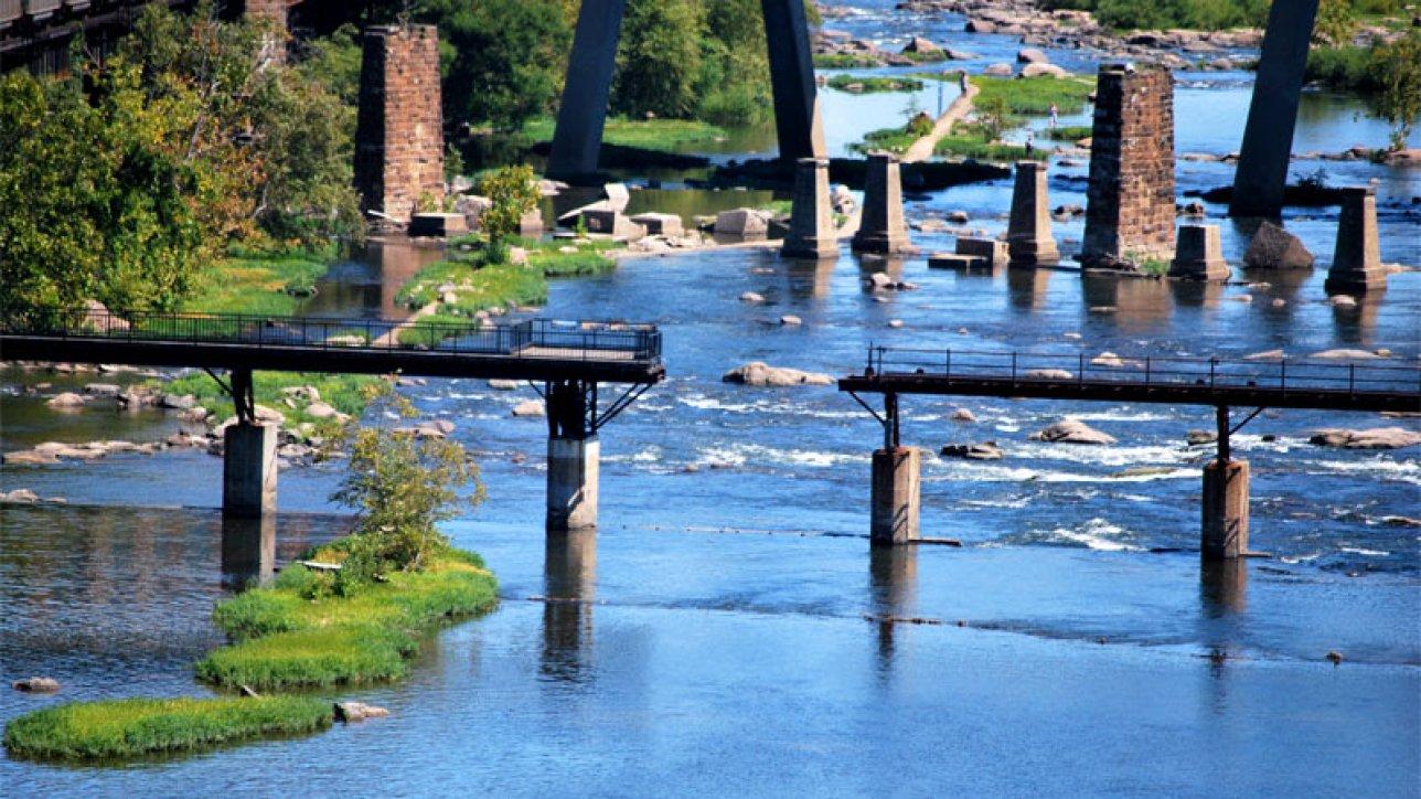 The current Vepco Levy Bridge Photo courtesy of Phil Riggan