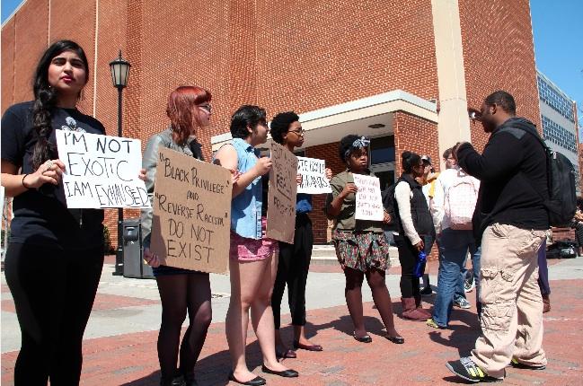 VCU Feminist Club in the Compass.